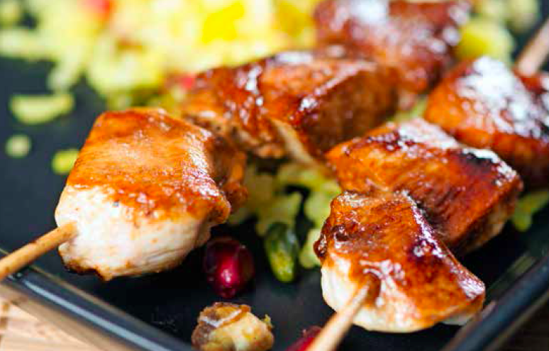 dates chicken yakitoris